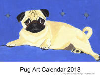 Click here for a close up of Pug Art 2018