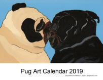 Click here for a close up of Pug Art 2019