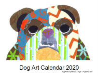 Click here for a close up of Dog Art 2020