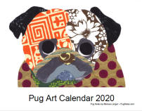 Click here for a close up of Pug Art 2020