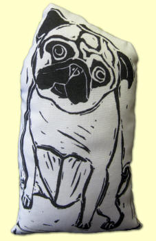 Pug Stamp Art Doll