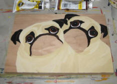 The painting process of Pug A67