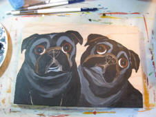 The painting process of Pug A66